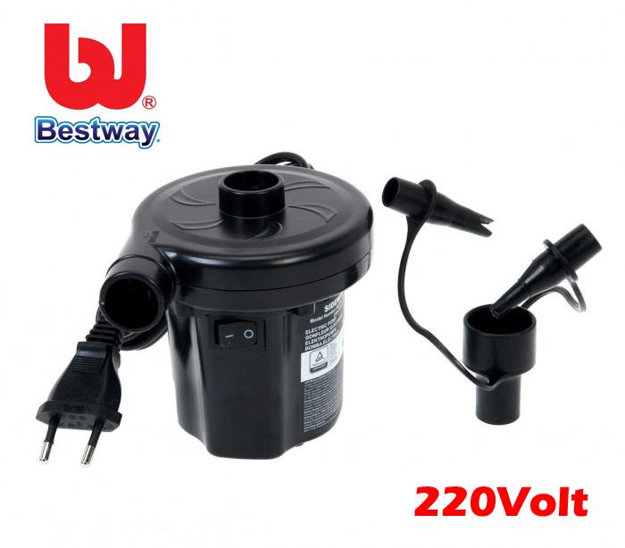 Bestway gonfiatore elettrico 220v pompa gonfiaggio per for Adesivi per piscine